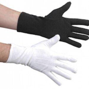 Extra lange handschoenen over de pols