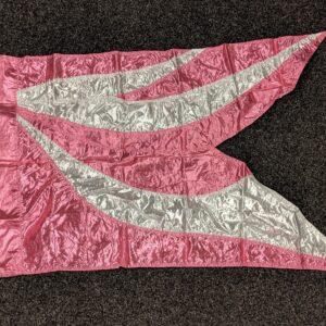 Demo vlag pink silver