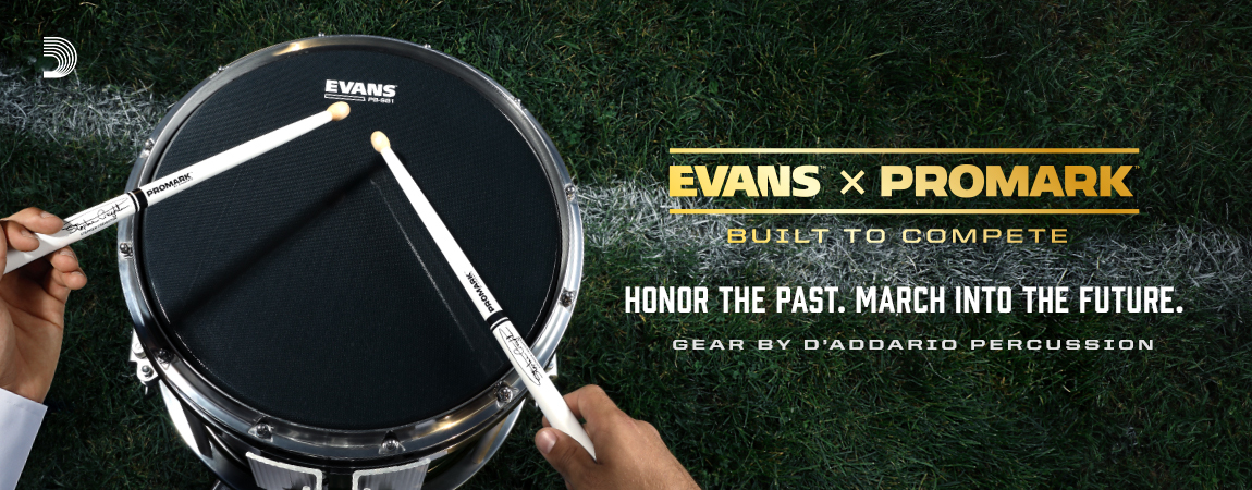 Marching drumheads by Evans