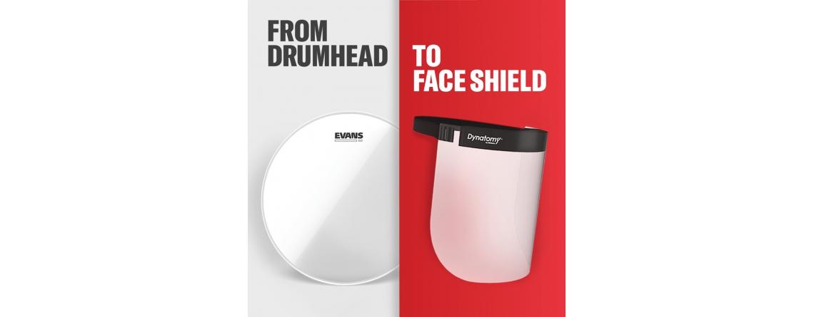 daddario van drumhead naar masker
