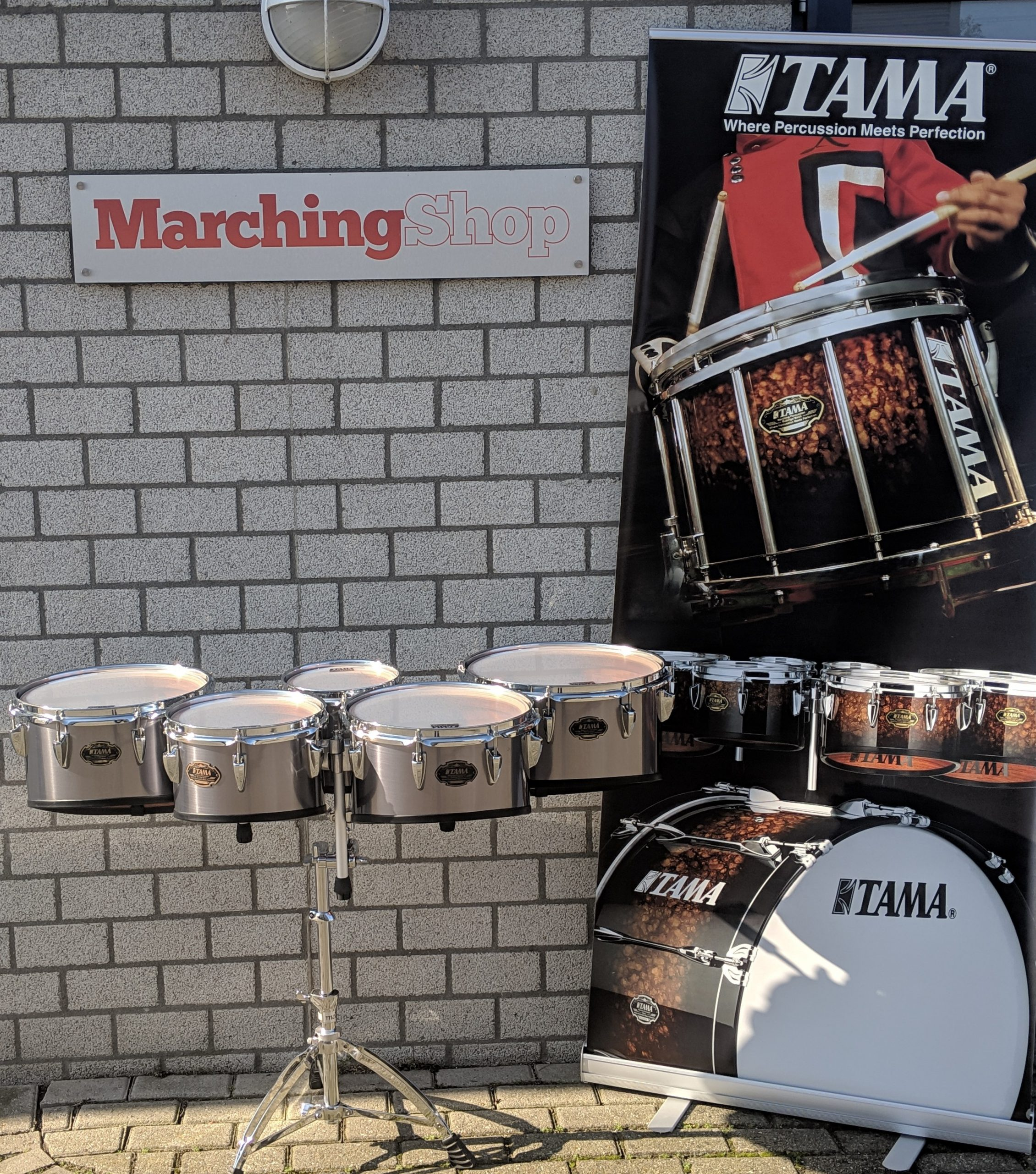 Tama Marching Percussion used drums