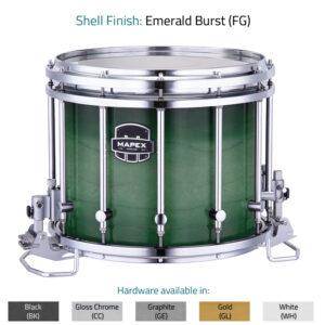 Emerald Burst Mapex marching snaredrum Quantum MK II