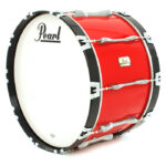 Pearl Championship marching bassdrum rood
