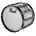 Pearl Championship marching bassdrum zilver