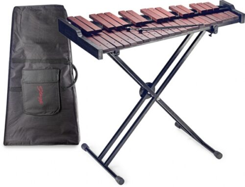 Xylo Marimba oefen instrument incl. standaard en hoes